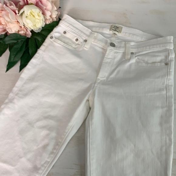 "J Crew Trademark Womens 8"" White Toothpick Jean 27"
